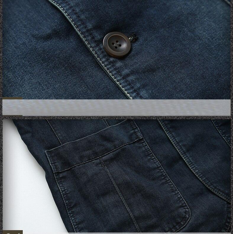 jaqueta denim masculino blazer ternos para homem marca-roupas de moda M-4XL
