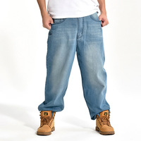 Brand Men Baggy Jeans Big Size Mens Hip Hop Jeans Long Loose Fashion Skateboard Relaxed