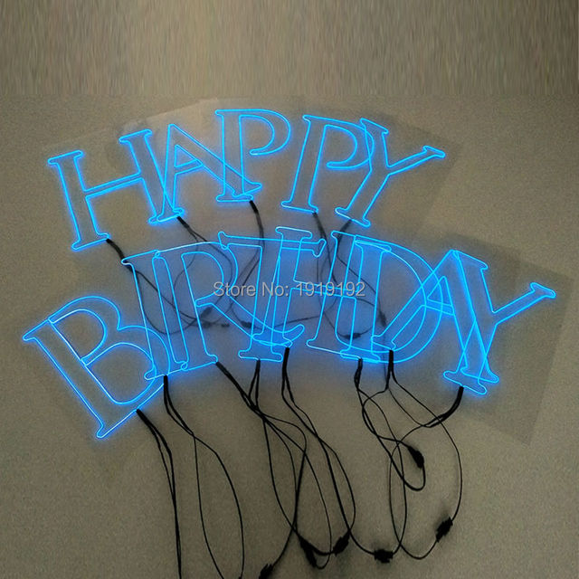 Creative EL wire LED neon light English Letters and Numbers DIY ...