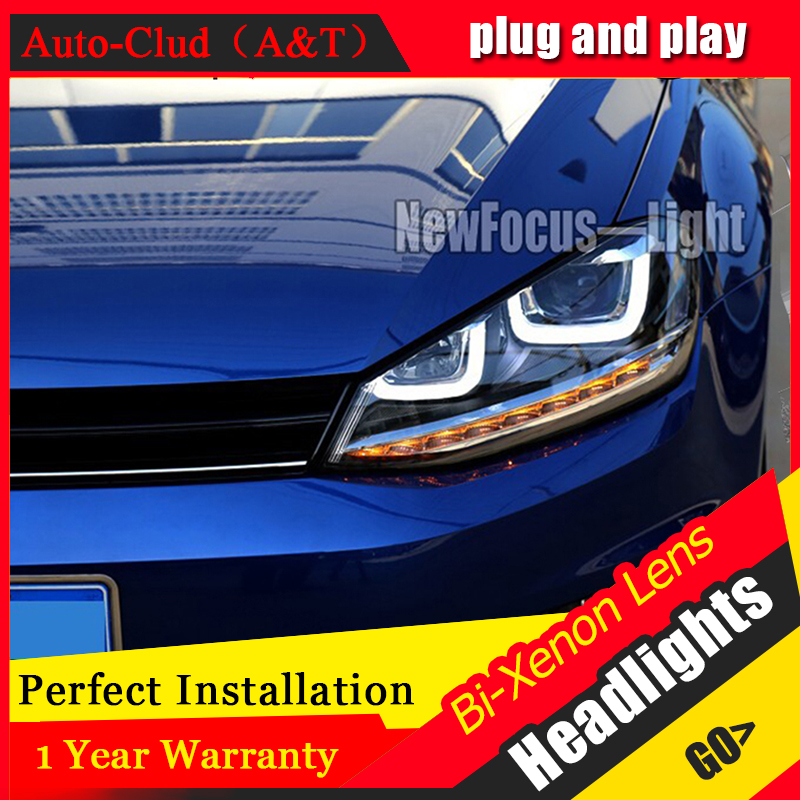 Auto Clud Style LED Head Lamp for VW Golf 7 GTI R20 led headlights golf7 angel