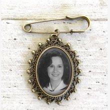 Персонализированные свадебное фото бутоньерка Pin Keepsake протяжки, настроить невесты лацкан, памятное фото Pin, подарок для жениха