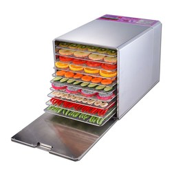 Elektryczna handlowa suszenia żywności urządzenia 10 warstwy ze stali nierdzewnej żywności suszone owoce maszyna żywności Grill przekąski odwadniacz w Dehydratory od AGD na