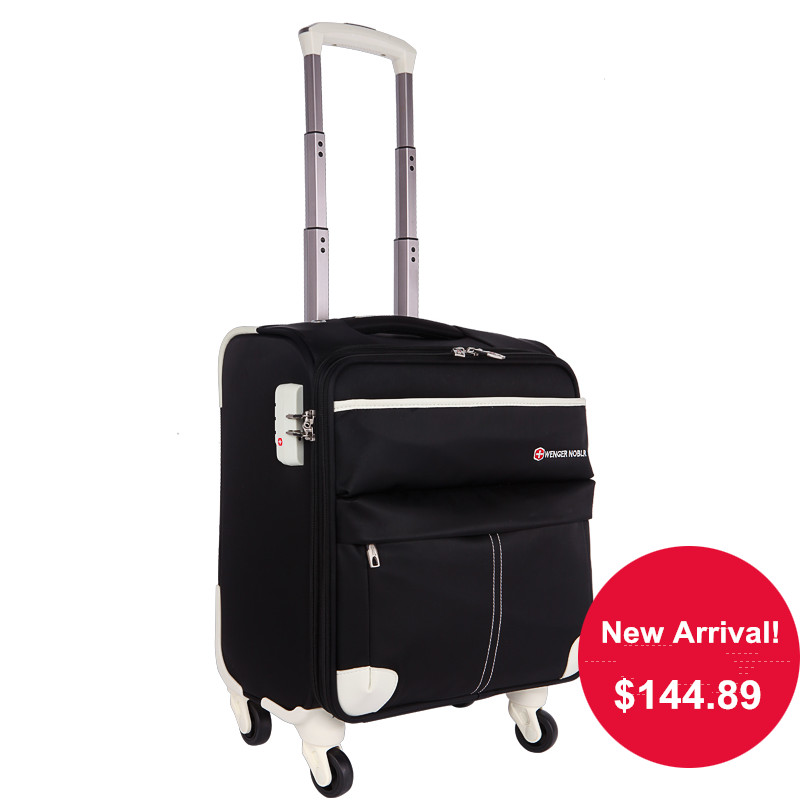 New Arrival!16inches male and female black/blue waterproof oxford fabric universal wheels trolley luggage,commercial travel bag
