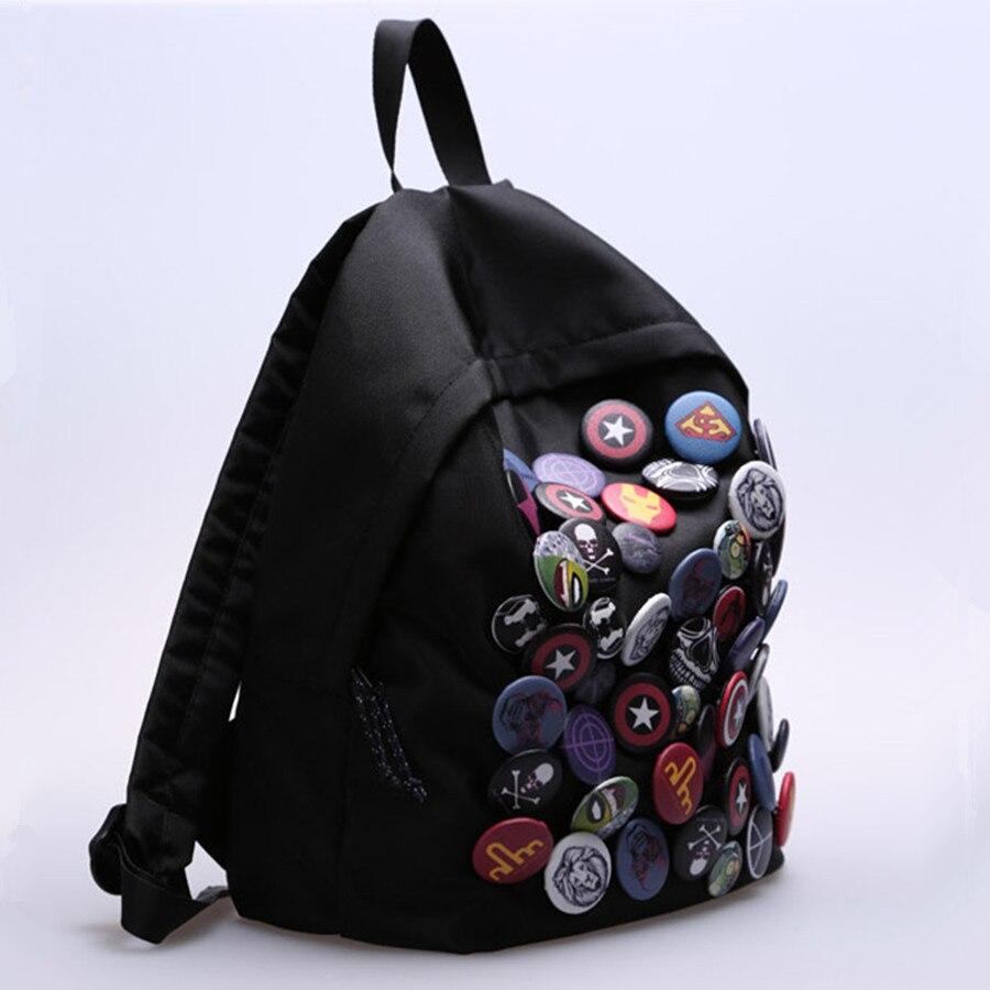 New Cool Badge Backpack Hip Hop Bookbag - ზურგჩანთა - ფოტო 2
