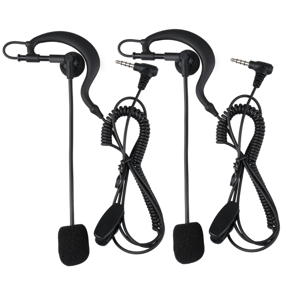 Fodsports 2 pcs V6 V4 Intercom Headset Football Referee Coach Judger Arbitration Referee Bicycle Conference Earpiece Earphone