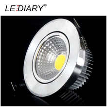 LEDIARY 4PCS/Lot COB Down light Recessed LED Ceiling Light 5W/7W Warm/Cold White Ceiling Lamp Indoor Lighting Fixture 100-240V