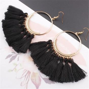 Tassel Earrings For Women Ethnic Big Drop Earrings Bohemia Fashion Jewelry 3