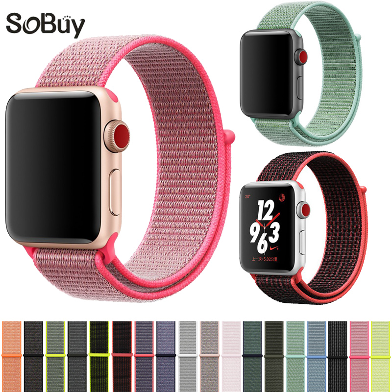 Woven nylon Strap For Apple Watch band 42mm/38mm iwatch series 3/2/1 sports wrist bands bracelet belt nylon watchband Accessorie crested woven nylon strap for apple watch band 42mm 38mm leather iwatch series 3 2 1 wrist bands bracelet watchband belt 2018