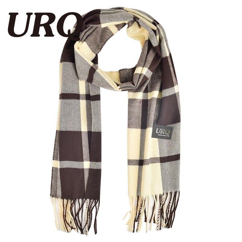 font b tartan b font scarf winter men scarf plaid warm tassel knitted unisex soft