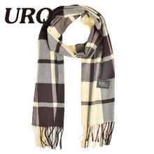 tartan scarf winter man scarf plaid warm tassel knitted unisex soft warm scarves imitation cashmere winter