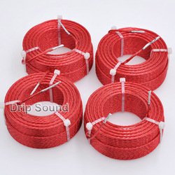 1pcs 4.0mH-5.7mH 0.6mmx7 Multi Strand Wire Speaker Crossover Audio Amplifier Inductor Oxygen-Free Copper Wire Coil #Red