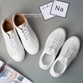 2017 Autumn White Sneakers Flat Heel Breathable Women Lacing Casual Flats Canvas Shoes Round Toe Women Sport Shoes SCJ90315