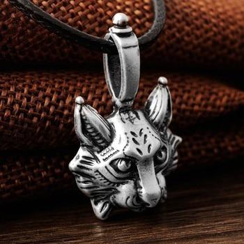 1pcs New Vintage Lynx Bobcat Pendant Lynx head Pendant Necklace cat Jewel Pagan Jewelry Animal Pendant Necklace Jewelry 2