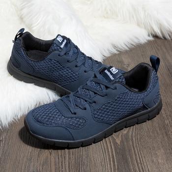 e154927a Кроссовки мужские сетчатые дышащие удобные спортивная обувь для улицы  прогулочные легкий спортивный кроссовки для мужчин синий размер 39-50
