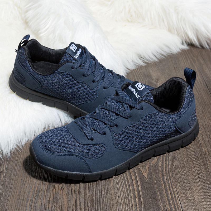 Running Shoes Men Mesh Breathable Comfortable Sport Shoes Outdoor Walking Lightweight Athletic Sneakers For Male Blue Size 39-50