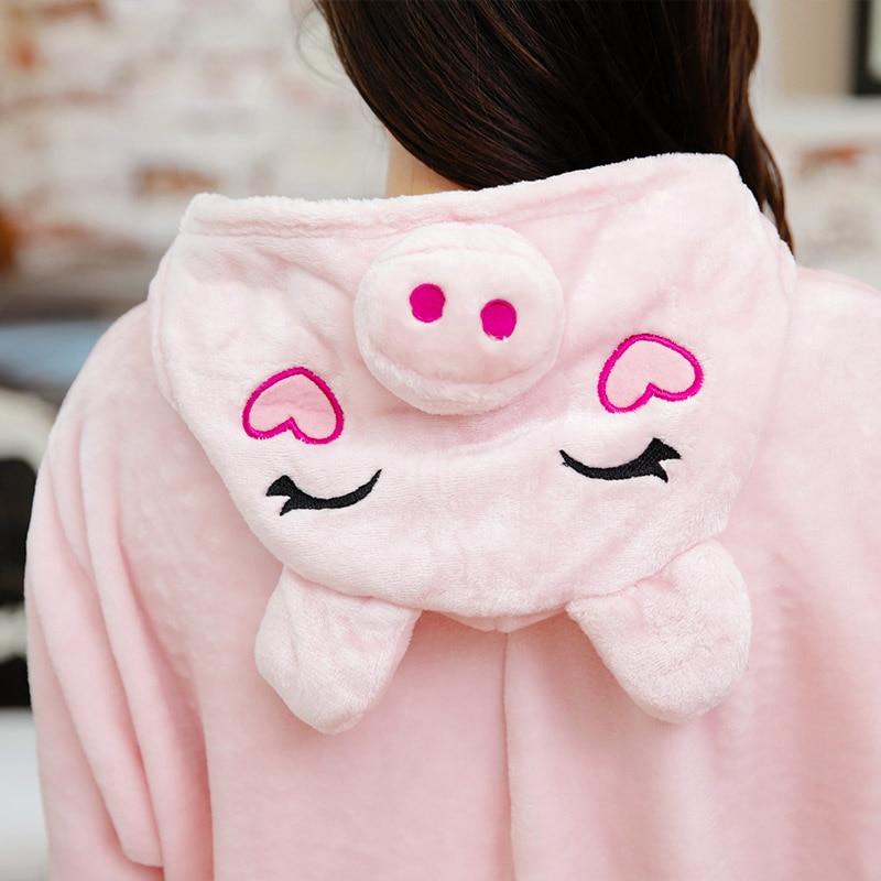 Adult Pigiama Pajama Set Pink Flannel Pijama Feminio Inverno Unisex Hoodie Halloween Christmas Carnival Masquerade Party Pyjama