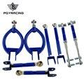 PQY-для 89-94 240SX S13 Camber + Тяговый рычаг + натяжение + рычаг заднего пальца регулируемый синий 9816 + 9823 + 9836 + 9805