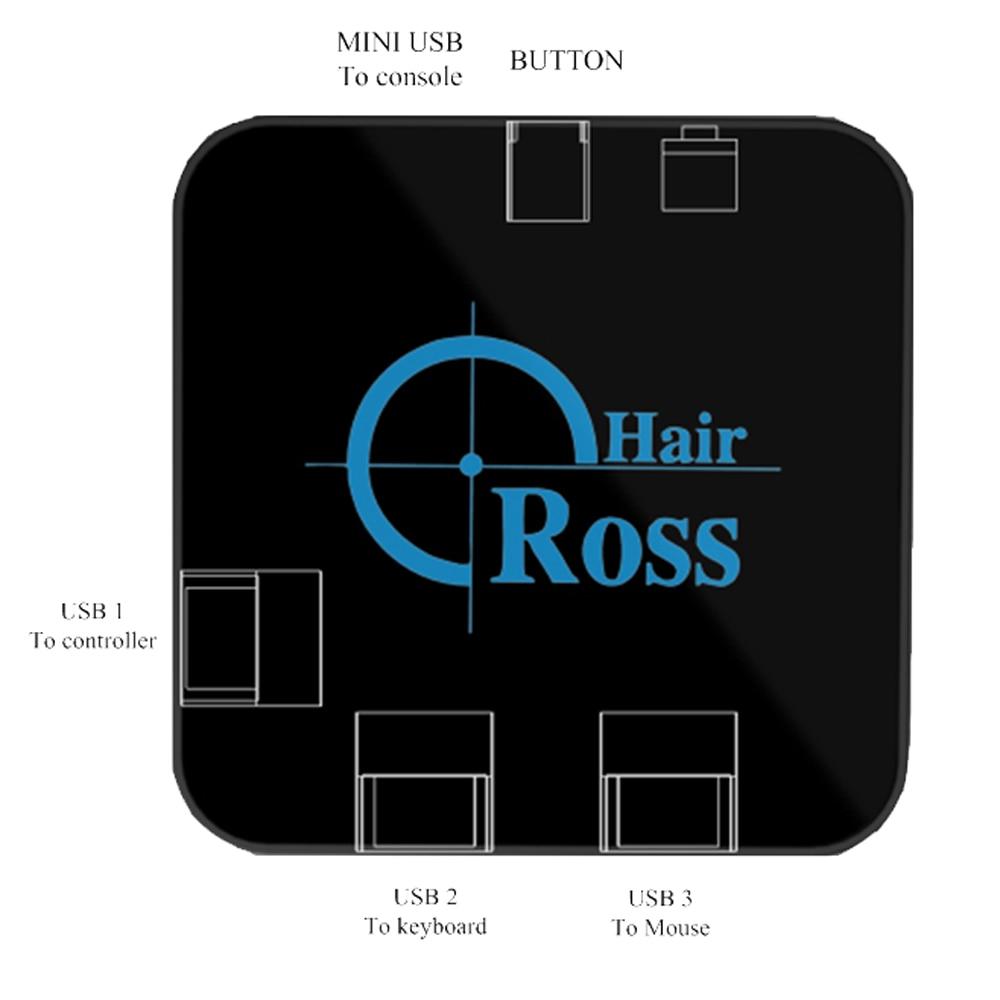 Крест волос клавиатура мыши контроллер преобразователя для PS4 для PS3 для коммутатора reasnow крест волос адаптер экономической и практической