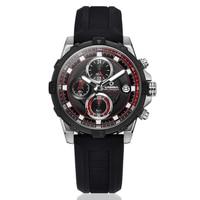 Mężczyźni luksusowej marki CASIMA ze stali nierdzewnej stalowy pasek moda Sport wojskowy zegarki kwarcowe zegarki męskie Big Face Relojes Hombre w Zegarki kwarcowe od Zegarki na