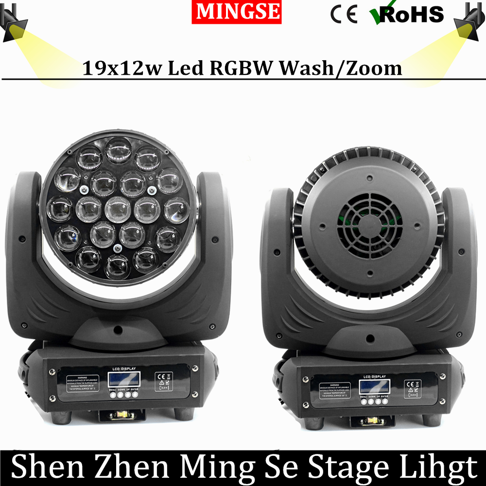19x12w Wash/Zoom Led RGBW Light  19*12w 16 Channels DMX512 Moving Head Light Professional Stage Light & DJ/Party/Stage Lighting