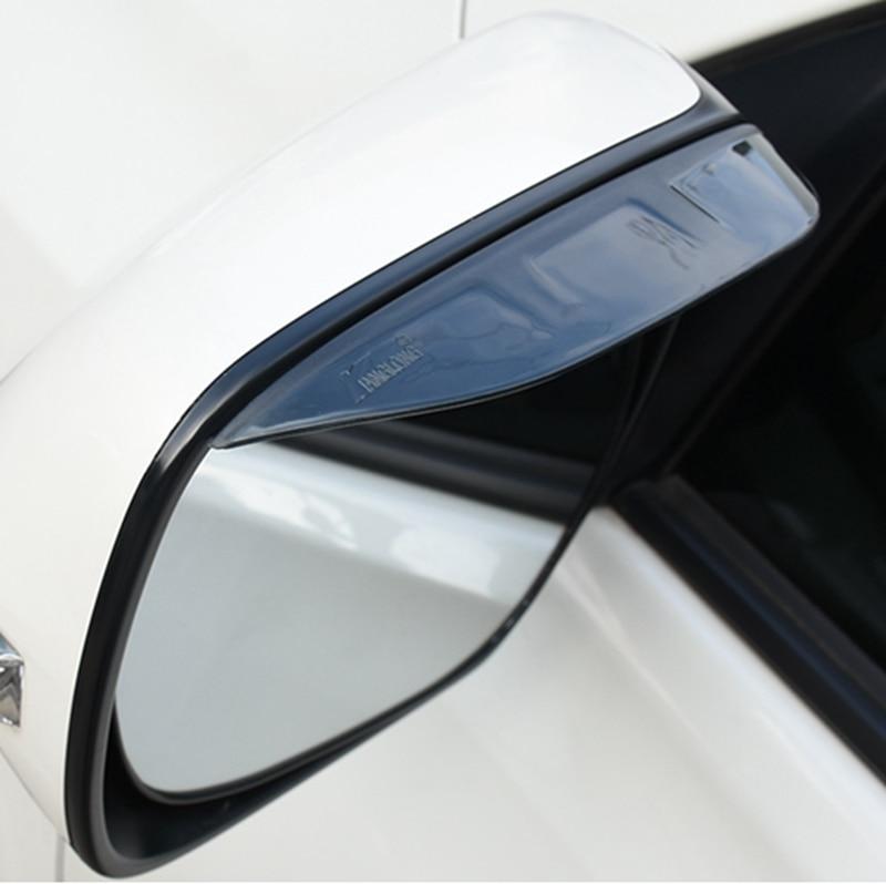 Rear View Side Mirror Sun Visor Shade Rain Shield For Toyota RAV4 RAV-4 2016 2017 Plastic 2PCS//SET