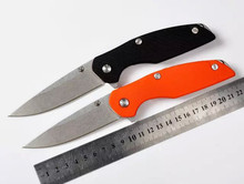 High Hardness Folding Tactical Knife D2 Blade G10 Handle Outdoor Hunting Camping Survival Tool EDC Black Orange Color