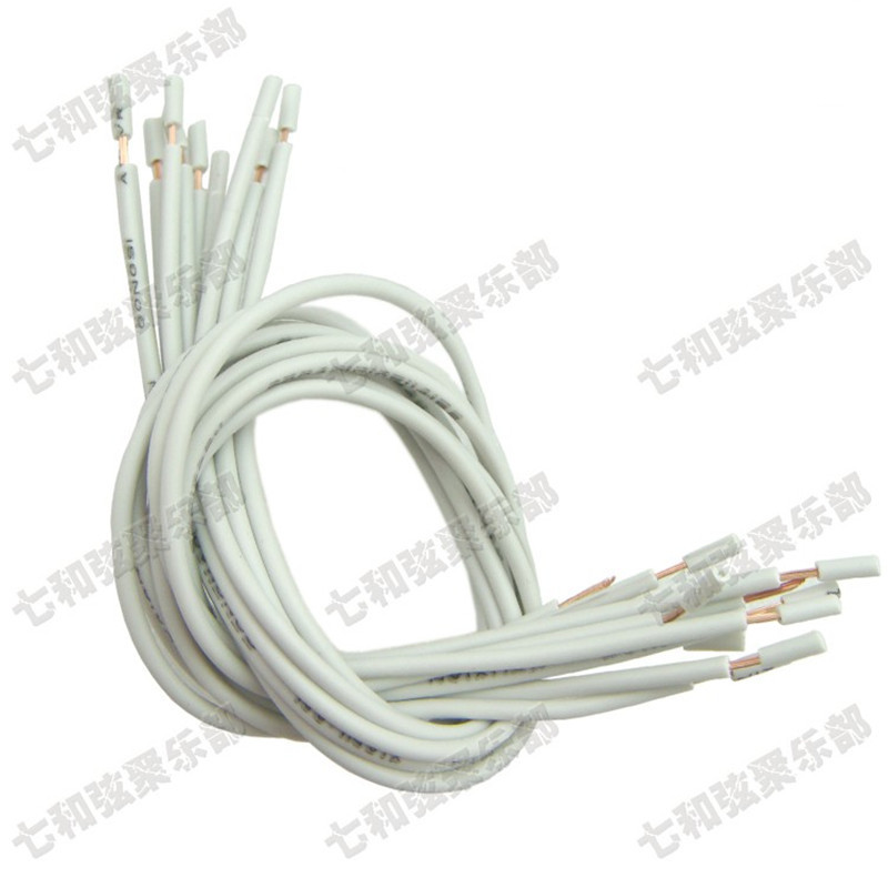 free shipping 20 pcs 20cm copper electric guitar bass pickup hookup wire lead cable guitar pots