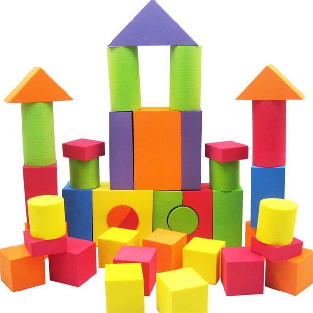 42 Pcs Kid Eva Safe Foam Assemblage Building Blocks Soft