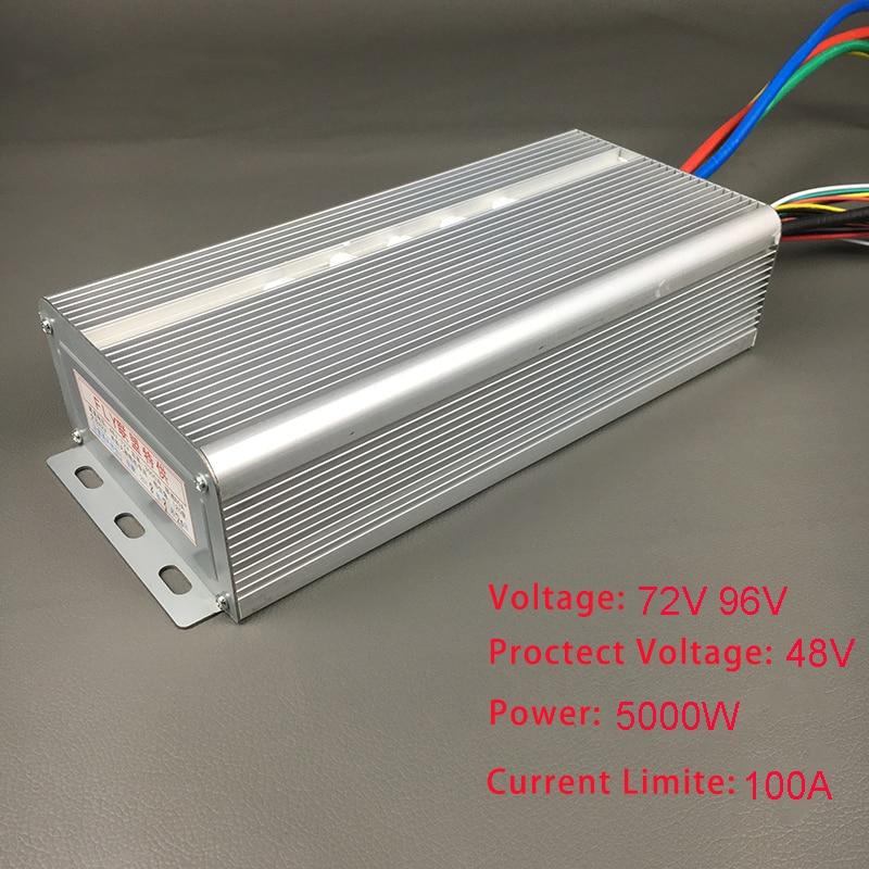 72 В в В 96 5000 Вт бесщеточный двигатель скорость контроллер 100A 36 Mosfet 120 градусов фазы с сенсор зал для Электрический велосипед, автомобиль, мото...