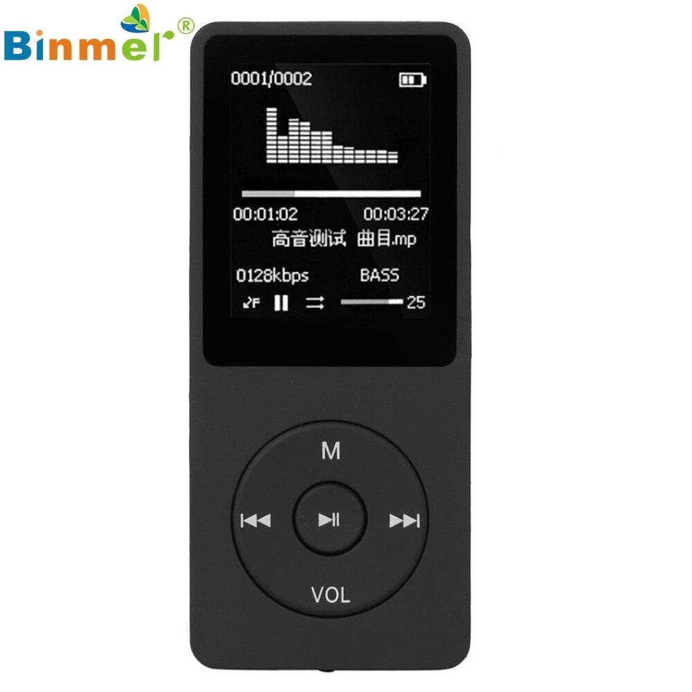 Binmer 1 8 TFT LCD Screen Black Original RuiZu X02 Ultrathin HiFi 4G MP3 Music Player