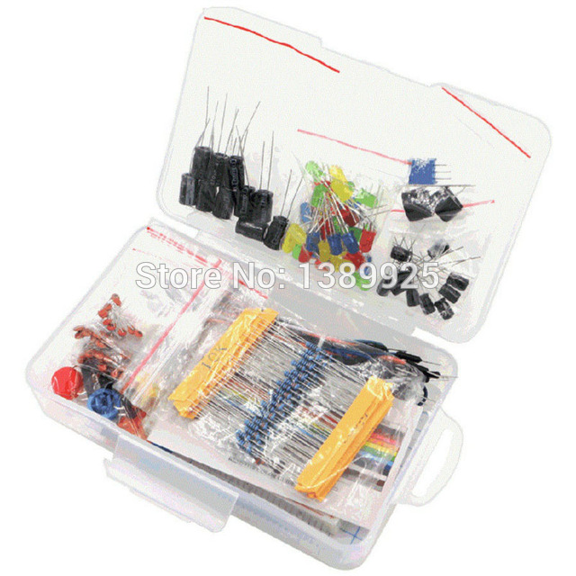 Starter Kit Resistor /LED / Capacitor / Jumper Wires / Breadboard Resistor Kit With Retail Box For Arduino Diy Starter Kit