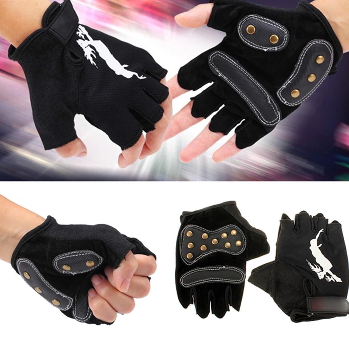 Skateboard Gloves Longboard Gloves Half Finger Fingerless Gloves For Longboard Skateboard Hunting Outdoor Sports