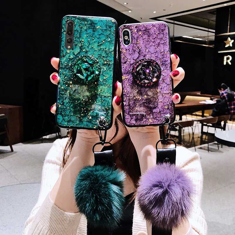 Girls Glitter <font><b>Diamond</b></font> Stand <font><b>Case</b></font> For <font><b>Huawei</b></font> Mate 20 Pro Mate10 Pro Bling Sequin TPU <font><b>Case</b></font> For <font><b>Huawei</b></font> Honor 10 Lite V10 <font><b>P20</b></font> Pro image