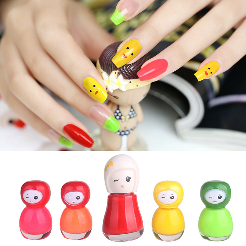 BK Non toxic kids peel off nail polish set 6ml makeup nail enamel ...
