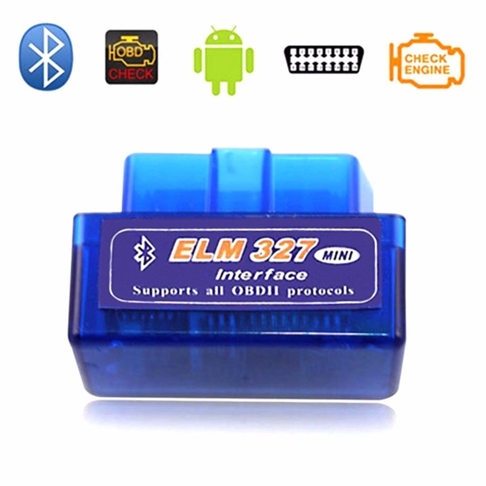 Latest version mini elm327 auto scanner elm 327 bluetooth obd2 for android torque obdii car v2 1 vehicle scan diagnostic tool