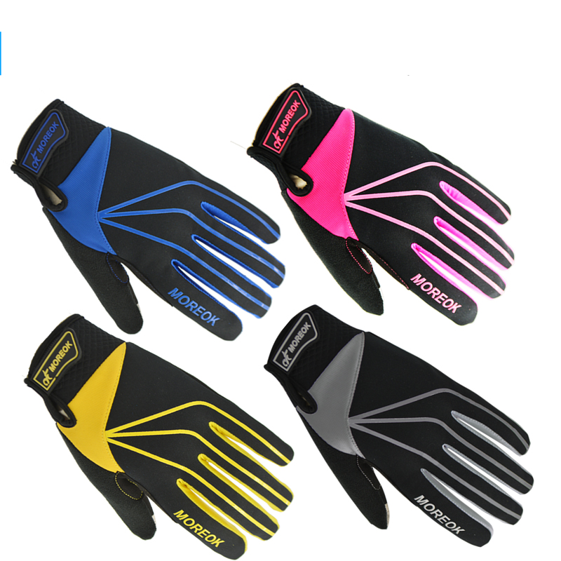 MOREOK Winter Women Washable Microfiber Leather Full Finger Touch Screen Cycling Equipment Gloves