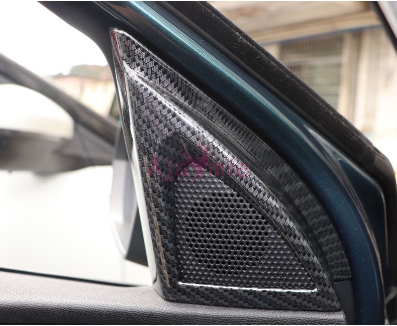 Accessory For Peugeot 5008 3008 2017 2018 Interior Carbon Fiber Color Front Audio Cover Speaker Overlay Panel Car Styling in Chromium Styling from Automobiles Motorcycles