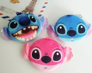 Plush Purse Bag Wallet Case Stitch-11cm Coin Cartoon Pouch New 3D And Lilo for Kid/lady