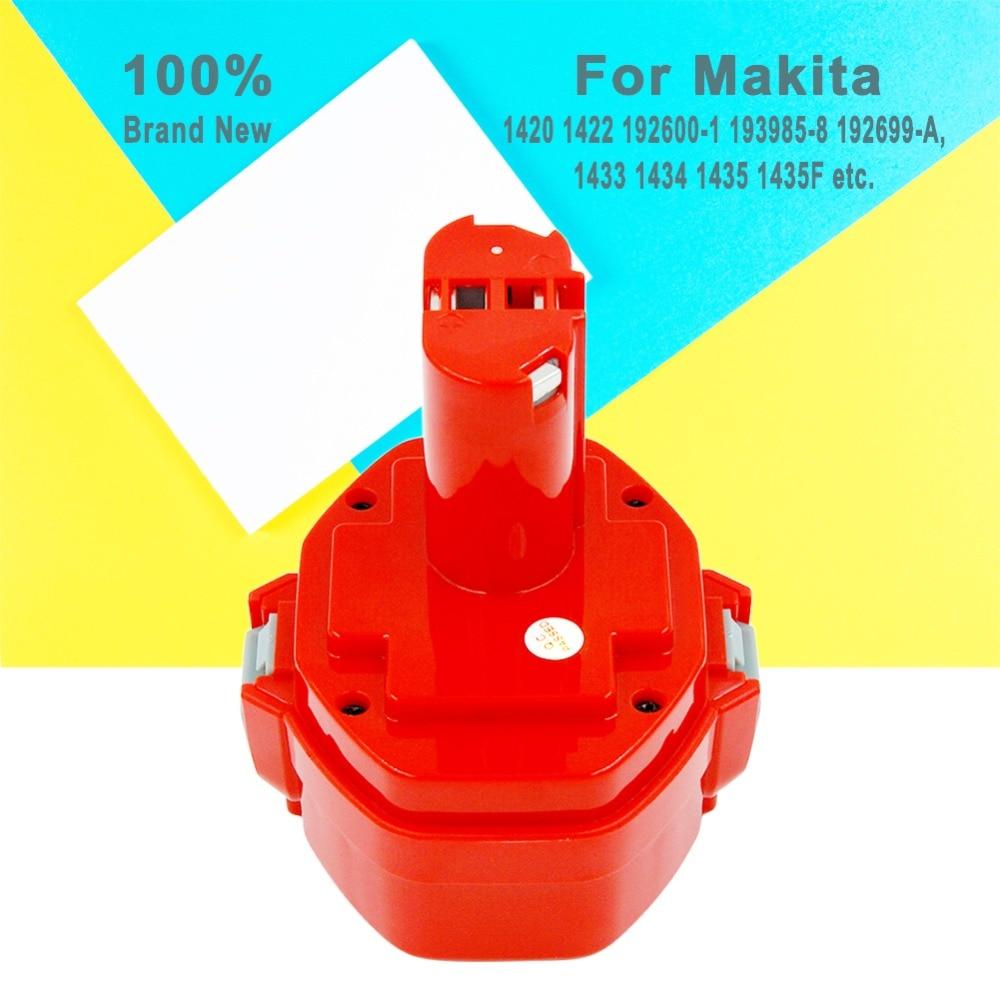2 pièces batterie de rechange Rechargeable ni-cd 14.4 V 3000 mAh pour Makita outils électriques 6381D 6337D piles nicd 1420 1433 1435 1434 - 4