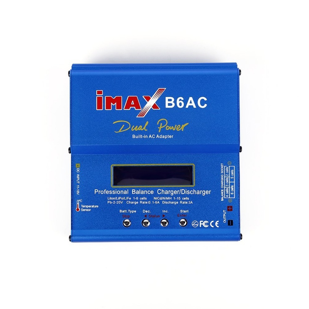 iMAX B6AC Professional Intelligent Compact Balance Charger/ Discharger 12V US Plug T Slots AC To DC Adaptor