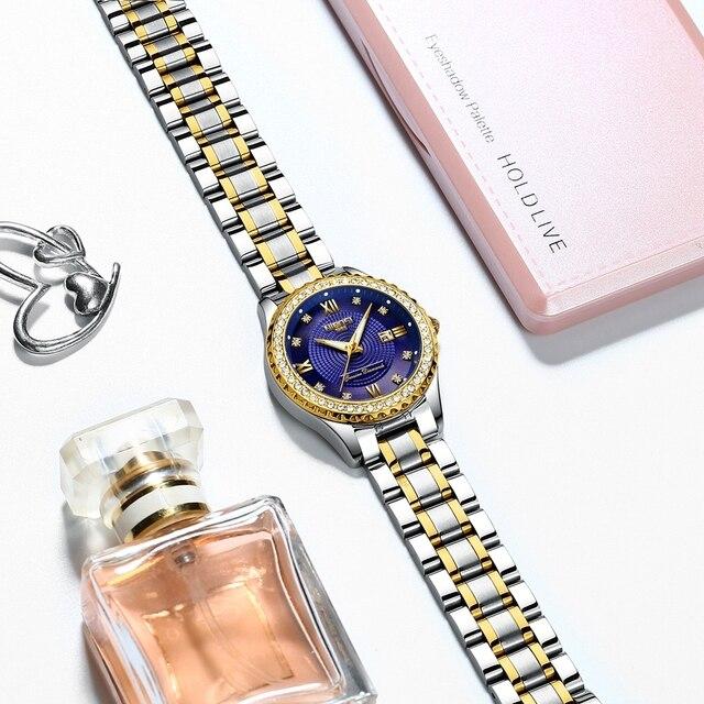 Luxury Gold Quartz Couples Wristwatch Set 3
