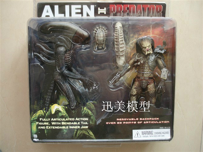 NECA Alien VS Predator Tru Exclusive 2-PACK PVC Action Figures Toys MVFG036 цена и фото