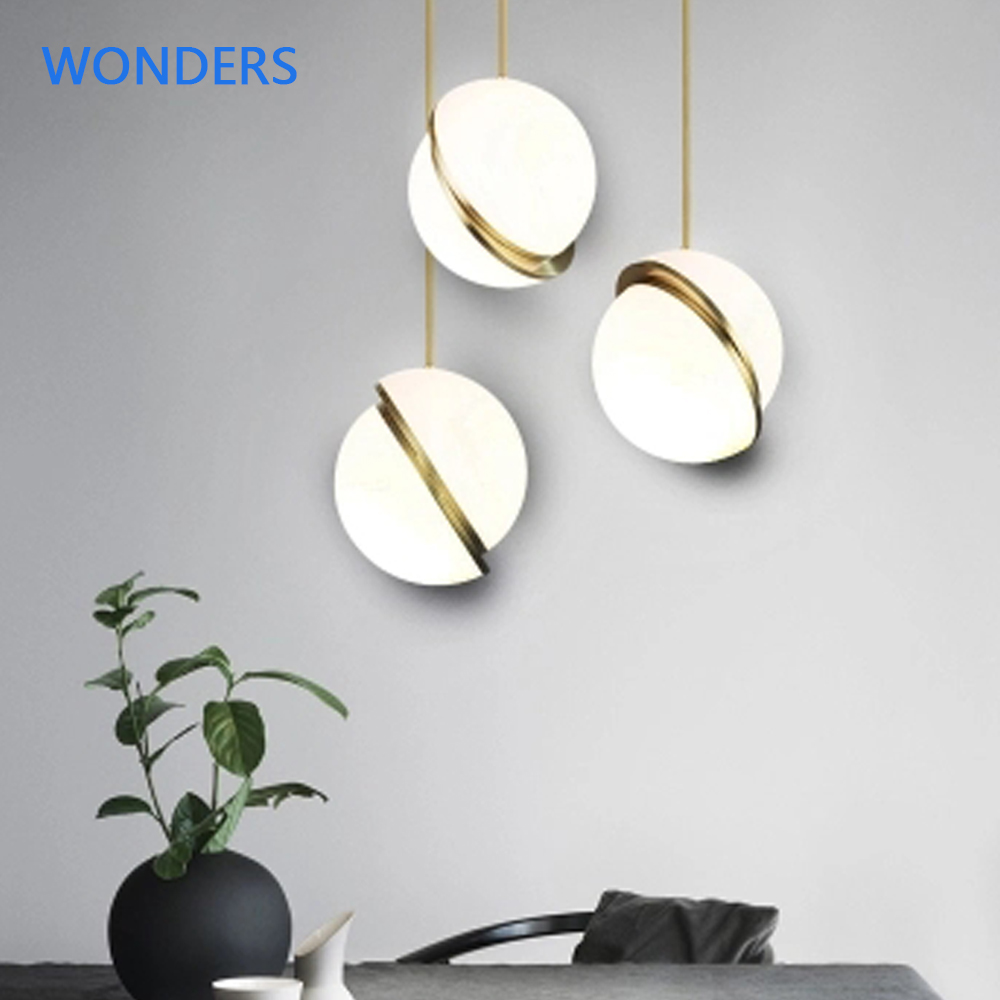 Nordic Modern Pendant Lights Golden Ball Simple Light Bedroom Kitchen Dining Room Lamps Bar Coffee Shop Decoration Pendant Lamp crystal pendant light fashion gold pendant light modern pendant lights bedroom lamp decoration lamps