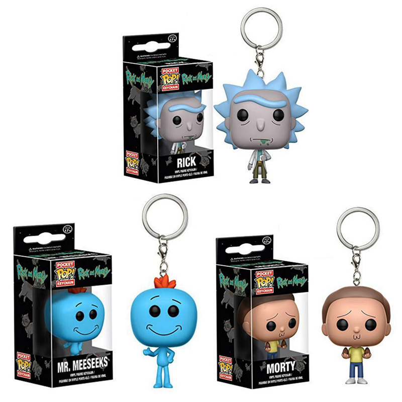 FUNKO POP New Pocket Pop Keychain Official Rick And Morty Characters Action Figure Collectible Model Christmas Toys