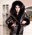 2016 Fashion Womens Winter duck down coats and jackets blazers with real fox fur hood plus size XXL XXXL XXXXL 3XLWS2101
