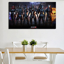 Mass Effect 3 Earth Dlc Canvas Painting Prints Living Room Home Decoration Modern Wall Art Oil Posters Salon Pictures