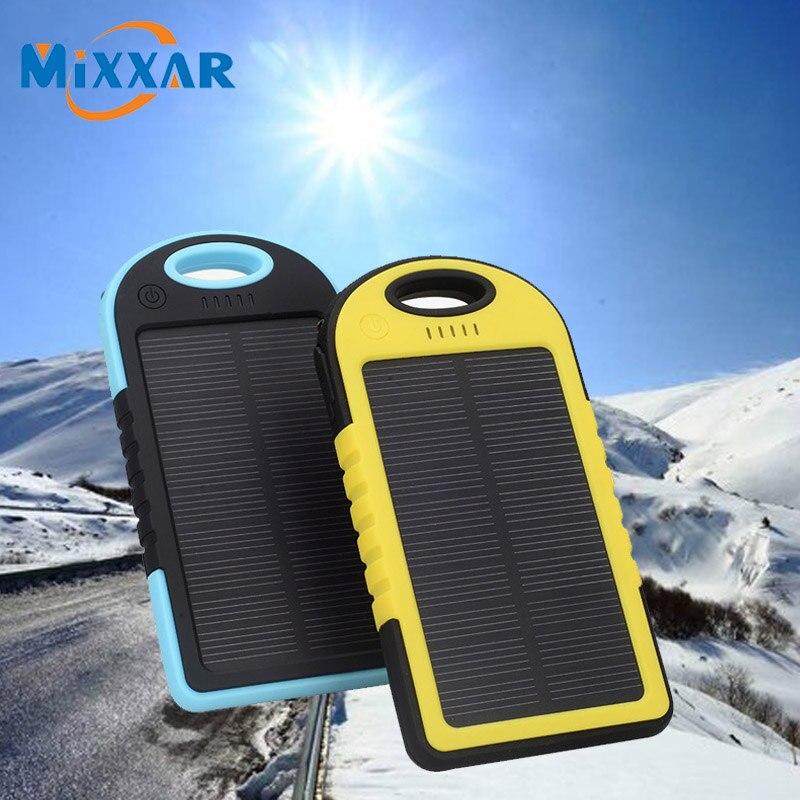 zk30 Mixxar 5000mAh Powerbank External Energy Battery Charger Solar Portable Power Bank Mobile Backup
