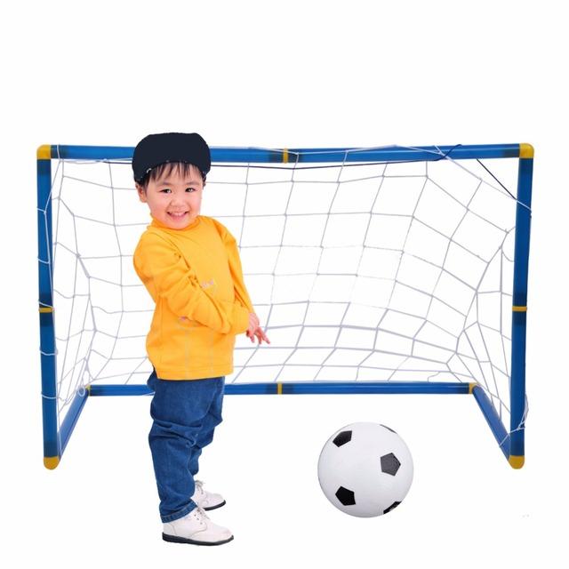 Los Niños Plegables portátiles de Portería De Fútbol Conjunto de Puerta Puerta Puerta De Fútbol Al Aire Libre Juguetes de Los Deportes de Fútbol de Los Cabritos Conjunto Regalos Frescos