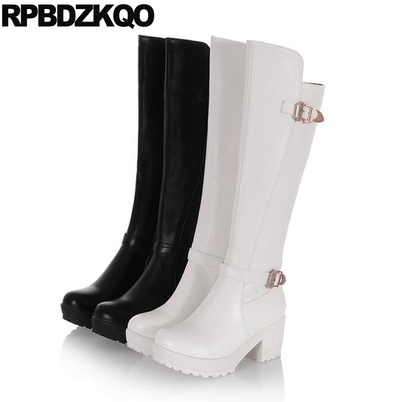 white platform boots metal 10 waterproof cheap