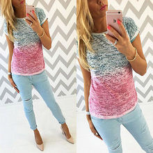 NEW Fashion Women Loose Pullover T-Shirts Short Sleeve Cotton Tops Casual T-shirts Tops